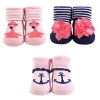 Hudson Baby® Flamingo 3-Piece Sock Set