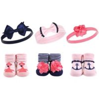 Hudson Baby® Flamingo Sock & Headband 6-Piece Gift Set