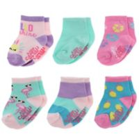 Capelli New York Size 12-24M 6-Pack Tropical Fun Socks