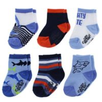 Capelli New York Size 12-24M 6-Pack Under the Sea Socks