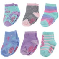 Capelli New York Size 12-24M 6-Pack Mini Mermaid Socks
