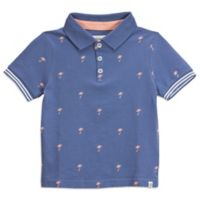 Sovereign Code® Size 24M Palm Trees Polo Shirt in Blue