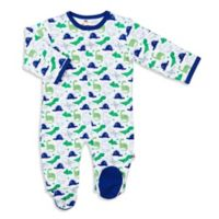 EMC2™ Size 6M Funesaurus Magnetic Footie in Blue