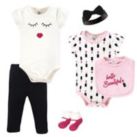 Little Treasure Size 0-3M 6-Piece Lipstick Layette Set in Pink