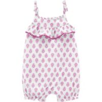carter's® Newborn Geo Romper in Purple