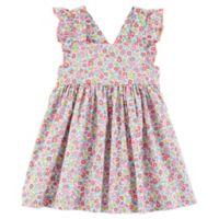 OshKosh B'gosh® Size 6M Floral Flutter Sleeve Dress