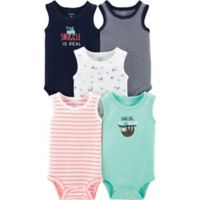 Carter's® Newborn 5-Pack Sloth Muscle Tank Bodysuits