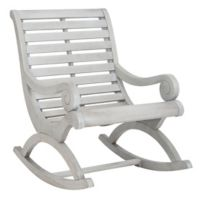 Safavieh Sonora Patio Rocking Chair in Ash Grey