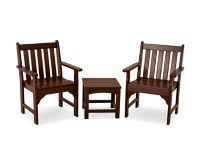 POLYWOOD® 3-Piece Vineyard Garden Chair Set in Mahogany