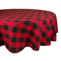 Design Imports Buffalo Check 70-Inch Round Tablecloth in Red