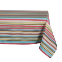 Design Imports Summer Stripe 60-Inch x 84-Inch Oblong Tablecloth