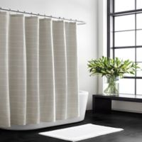 Vera Wang Slub Stripe Shower Curtain