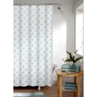 Smart Curtain Trellis Shower Curtain in Sea Foam