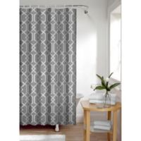 Smart Curtain Celtic Shower Curtain in Charcoal