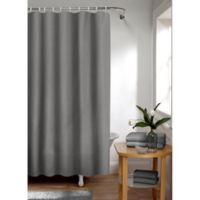 Smart Curtain Waffle Shower Curtain in Charcoal