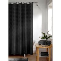 Smart Curtain Madison Shower Curtain in Black