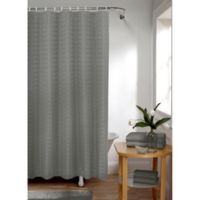 Smart Curtain Madison Shower Curtain in Charcoal