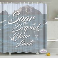 """Soar Beyond Your Limits"" Shower Curtain"