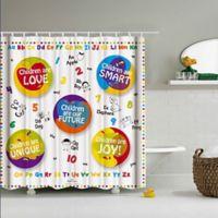Childrens Age 3 6 Math Shower Curtain