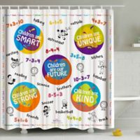 Children's Age 6-9 Math Shower Curtain