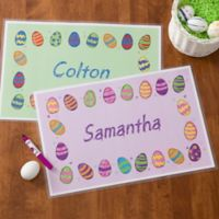 Colorful Eggs Personalized Laminated Placemat