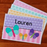 Just for Her Personalized Laminated Placemant