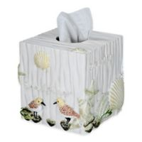 Bird Haven Tissue Box Cover in Taupe