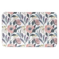 "Designs Direct 34"" x 21"" Faded Florals Bath Mat in Pink"