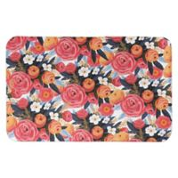 "Designs Direct 34"" x 21"" Sunset Floral Bath Mat in Pink"