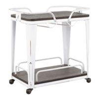 Lumisource Oregon Vintage Bar Cart in White/Espresso