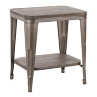 Lumisource Oregon Industrial End Table in Espresso