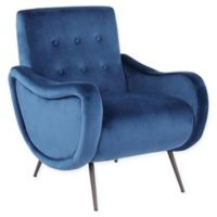 Lumisource® Velvet Upholstered Rafael Chair in Blue