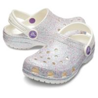 Crocs™ Classic Glitter Size 4 Kids' Clog in Oyster