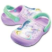 Crocs™ Fun Lab Unicorn Size 4 Kid's Clog in Pink/Mint