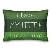 Designs Direct St. Patrick's I Love My Little Leprechauns Oblong Throw Pillow