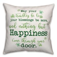 Designs Direct St. Patrick's Shamrock Irish Blessing Square Throw Pillow
