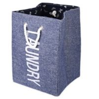 Danya B.™ Nautical Large Waterproof Laundry Hamper in Blue with Rope Handles