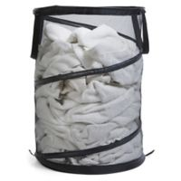 Spiral Pop-Up Laundry Hamper in Black