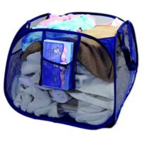 Pyramid Pop-Up Laundry Basket in Blue