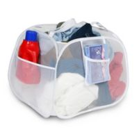 Square Pop-Up Laundry Basket in White