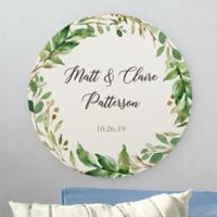 Laurels Of Love Personalized Round Wood Sign