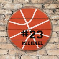 Basketball Personalized Round Wood Sign