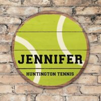 Tennis Ball Personalized Round Wood Sign