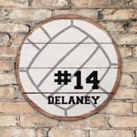 Volleyball Personalized Round Wood Sign