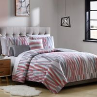 Bixby Queen Reversible Quilt Set in Grey