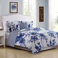 Bella Full/Queen Quilt Set in Blue