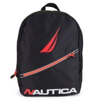 Nautica® Diagonal Zip 12-Inch Mini Backpack in Black