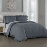 Melody 7-Piece Queen Comforter Set in Grey