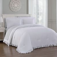 Melody 7-Piece King Comforter Set in White