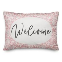 Designs Direct Welcome Oblong Throw Pillow in Pink